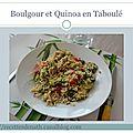 Mélange quinoa-boulgour en taboulé aux tomates cerises et avocat