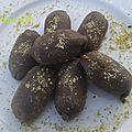 Des chocolats à la pâte de pistaches-recettes de fêtes