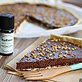 Tarte au chocolat et à l'<b>Ylang</b>-<b>Ylang</b> {recette}