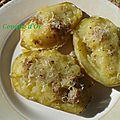 Des pommes de terre farcies à la saucisse