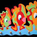 <b>accroche</b> <b>torchons</b> 3 poissons