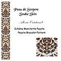 Schéma pour manchette peyote : peau de serpent - snake skin