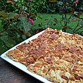Dessert : carrés aux amandes, caramel et miel