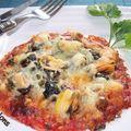 Mini-pizza au thon et moules