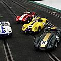 L'écurie TDS : 3 Lister Jaguar, 1 Maserati Birdcage.