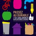 Semaine du <b>développement</b> <b>durable</b> du 1er au 7 avril