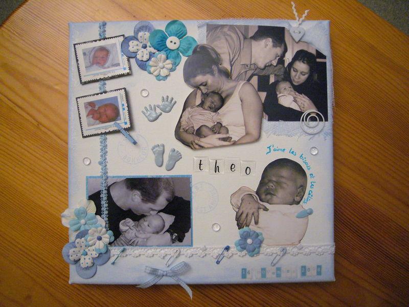Canvas naissance Théo