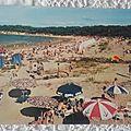 Ronce les bains - plage de l'Embellie datée 1966
