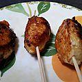 Brochettes de poulet au soja
