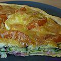 Tarte à l'aubergine, à la courgette, à la tomate et au fromage de chèvre