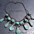 Collier Régalade fausses turquoises