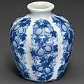 A miniature blue and white 'melon' jar, 18th-19th century