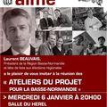 <b>élections</b> <b>régionales</b> mars 2010 : réunion publique de Laurent Beauvais (PS) à Granville - mercredi 6 janvier 2010