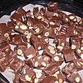 Fudge au chocolat amande et noisette