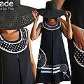 Robe à Pois trapèze Couture à dentelle et Pois Noir/ Blanc Tendance Automne Hiver 2014 2015
