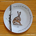 Peinture animalière sur assiettes en porcelaine