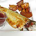 Truite en croûte de st nectaire au vin rouge