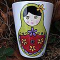 mug <b>Matriochka</b> peint à la main