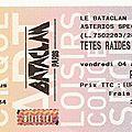 <b>Têtes</b> <b>Raides</b> - Vendredi 4 Avril 2008 - Bataclan (Paris)