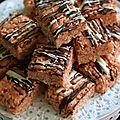 Carrés de rice krispies aux marshmallow et beurre de cacahuètes