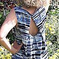Robe ivy bleue