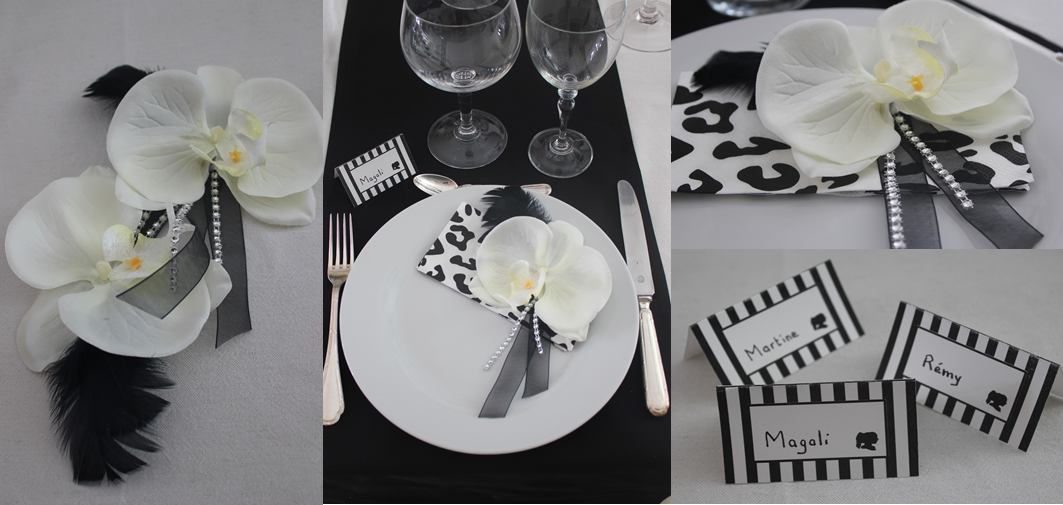 TABLE N°9 - decor serviette