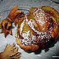 Rose feuilletée aux pommes et au caramel