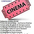 Défi Cinéma, catégories 12, 36, 65, 138, 9, 82, 93 et 20 .....#20/150