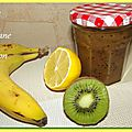 Confiture kiwi, banane, citron...