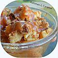 Crumble de müesli aux pommes & caramel au beurre salé
