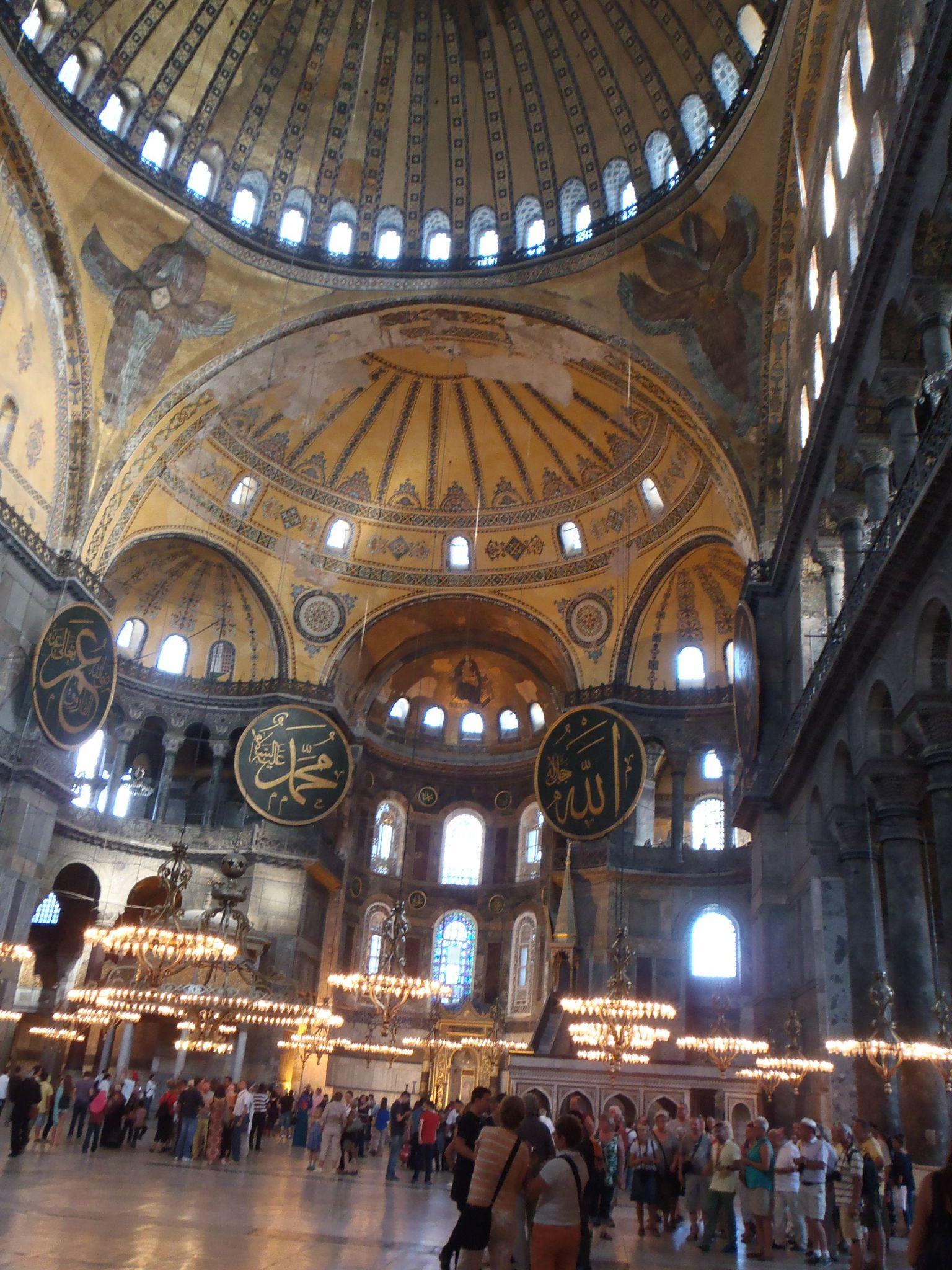 turquie istanbul intérieur de sainte sophie