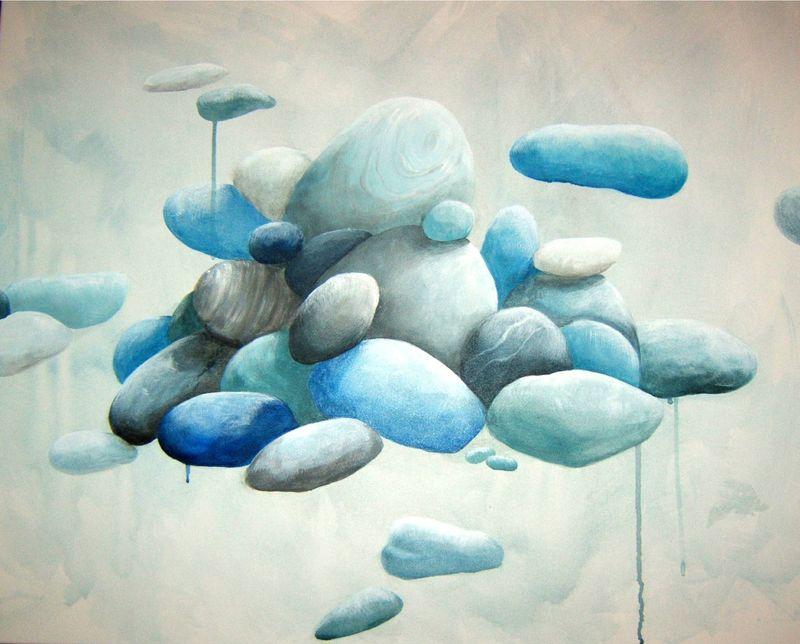 galets 2, acrylique sur toile