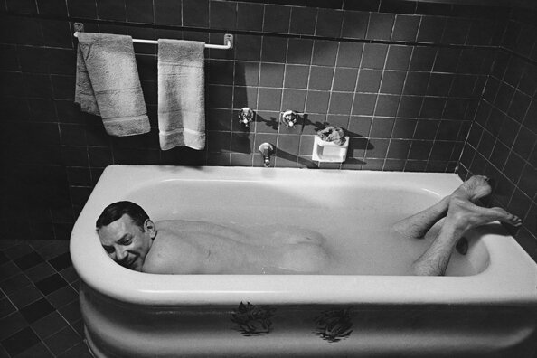 Donald Sutherland Relaxes in BathtubThe Day of the Locust Los Angeles California 1974