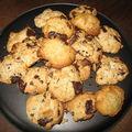 Cookies noisette chocolat noir/blanc