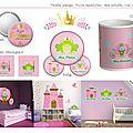 Stickers : thème princesse et sa grenouille