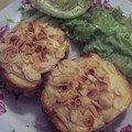 Croques au pain safran jambon et amandes