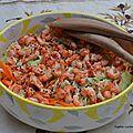 Salade de chou chinois aux écrevisses