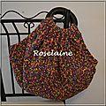 Un sac boule multicolore