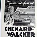 <b>CHENARD</b> WALCKER ANB+DRE DUMAS 1936 PUBLICITE ANCIENNE AU 36