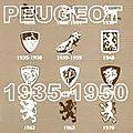PEUGEOT LA MARQUE DU LION 1935/1950