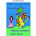 Atelier kamishibaï, atelier création d'un livre ou conte à illustrer : l'histoire de la <b>princesse</b> Rondine et de Léon le dragon