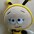 Bonnie with bee costume