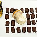 Les chocolats aux cèpes et miel de sapin d'alsace.