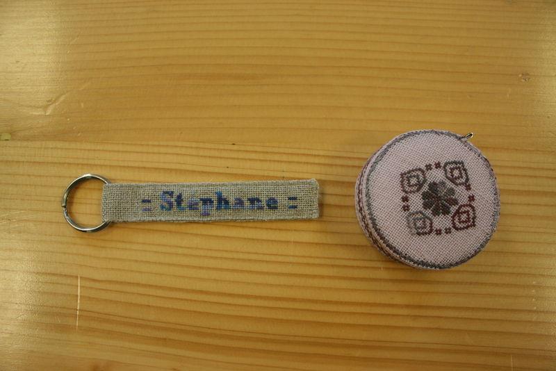 Mètre ruban et porte-clés