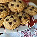 Biscuits boutons au beurre de cacahuètes.