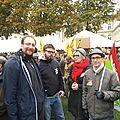 Marie-Laure Darrigade, ici avec Cédric Maisse, en soutien aux syndicalistes de La Conf'
