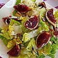 Salade aux figues et au parmesan - ensalada con higos y parmesano