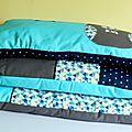 Tour de lit bébé coussins rectangulaires transformables
