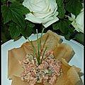Corolle de tartare de saumon