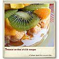 Tiramisu au kiwi et à la mangue